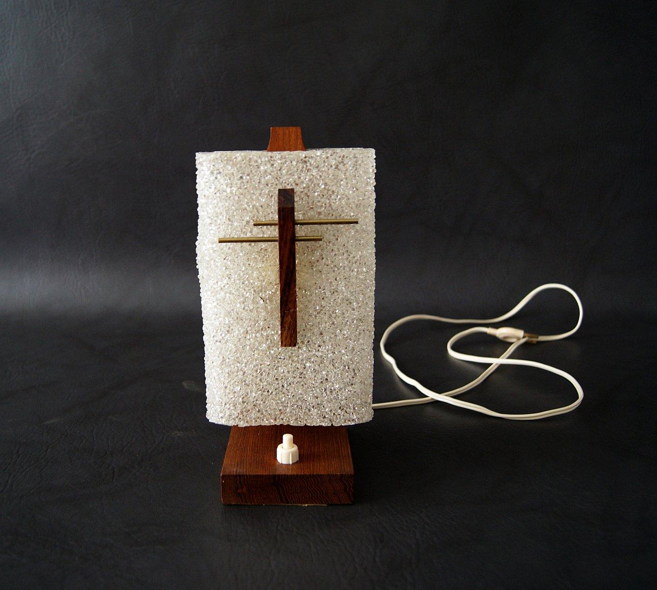 Mid-Century Teak Tischlampe