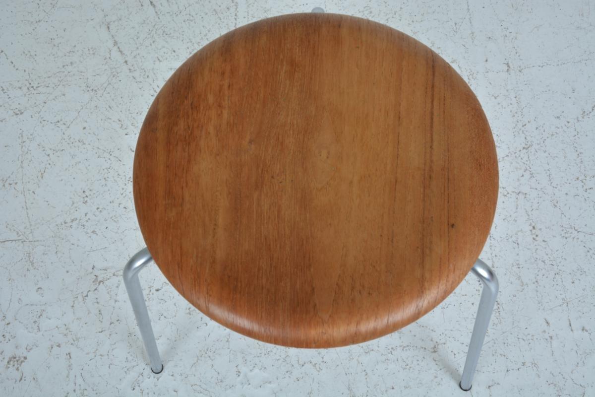 vintage stool by arne jacobsen for fritz hansen 1967 for sale at pamono. Black Bedroom Furniture Sets. Home Design Ideas