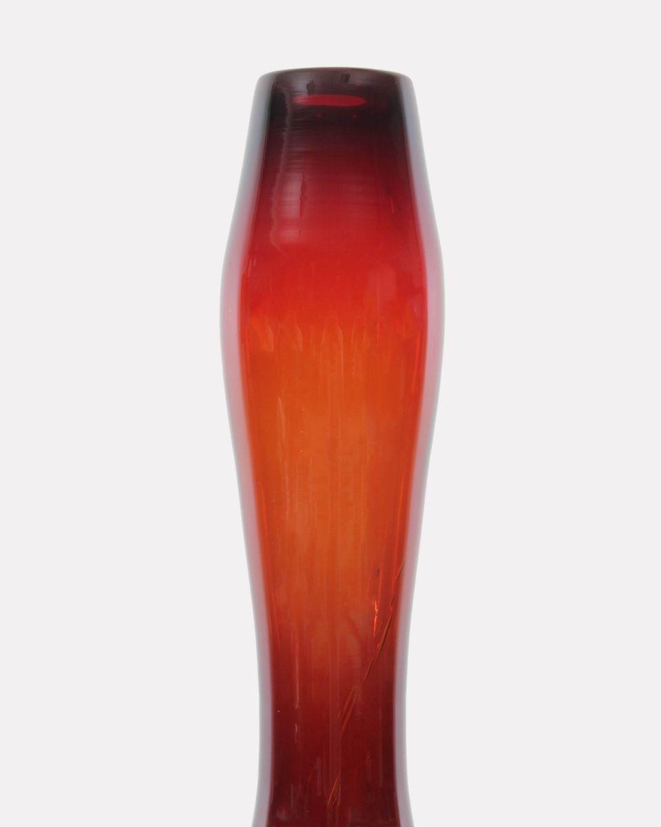gro e rote vase von ewa gerczuk moskaluk f r sudety 1970er bei pamono kaufen. Black Bedroom Furniture Sets. Home Design Ideas