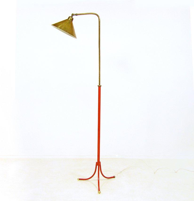 Schwedische Messing 1842 Stehlampe von Josef Frank für Svenskt Tenn, ...