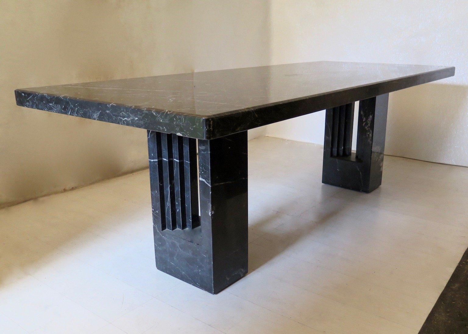 delfi marmor tisch von marcel breuer carlo scarpa 1969. Black Bedroom Furniture Sets. Home Design Ideas