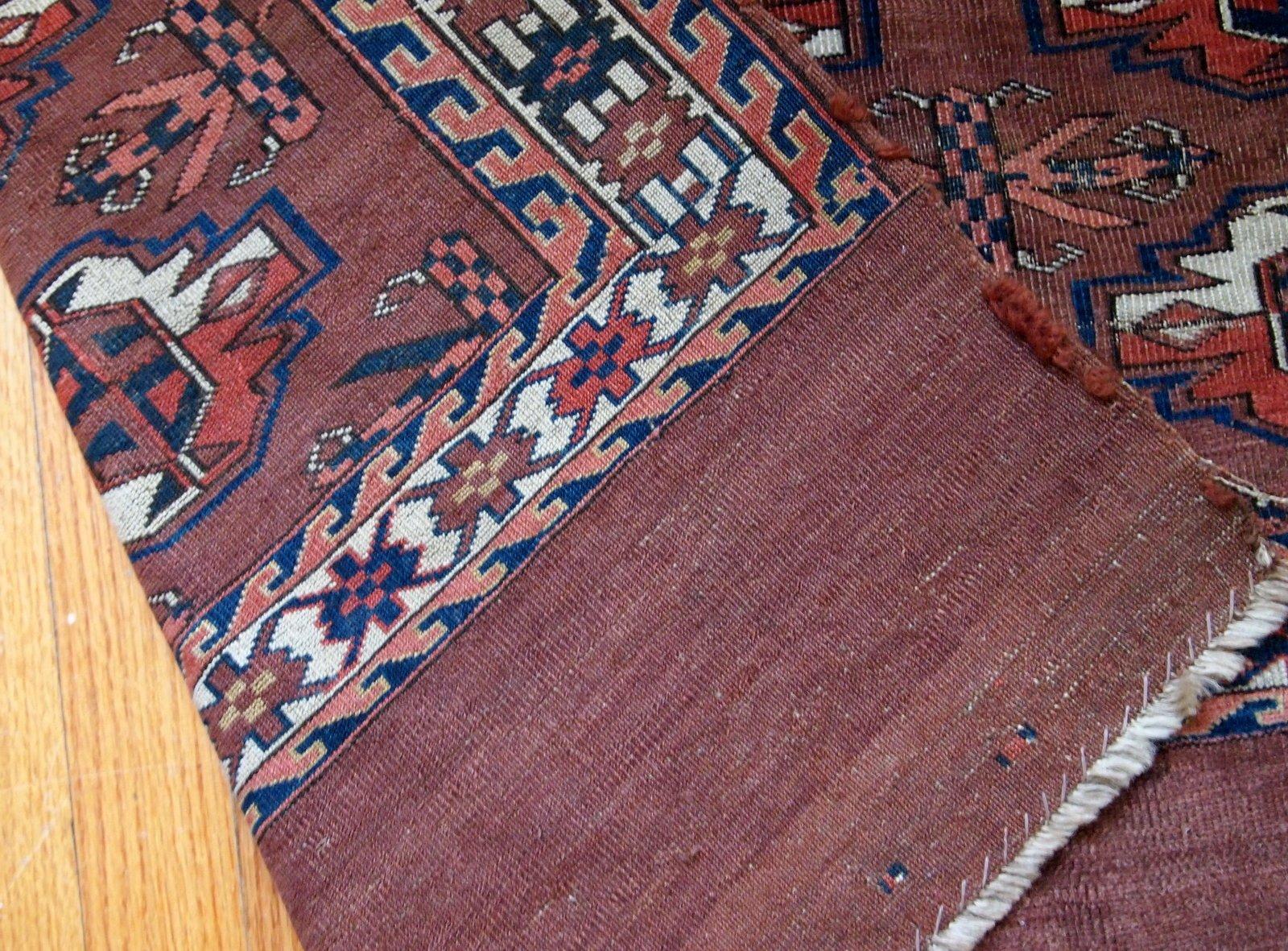 Alfombra yomud turkmena antigua hecha a mano d cada de 1880 en venta en pamono - Alfombras a mano ...