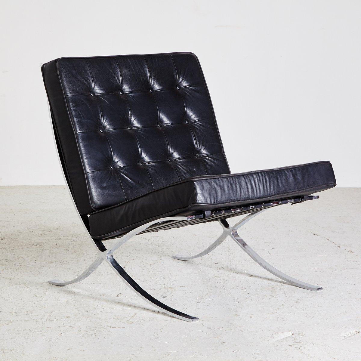 Schwarzer Leder Sessel