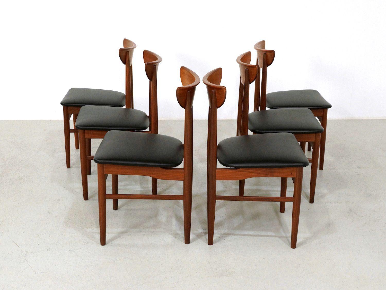 d nische mid century esszimmerst hle von skovby. Black Bedroom Furniture Sets. Home Design Ideas