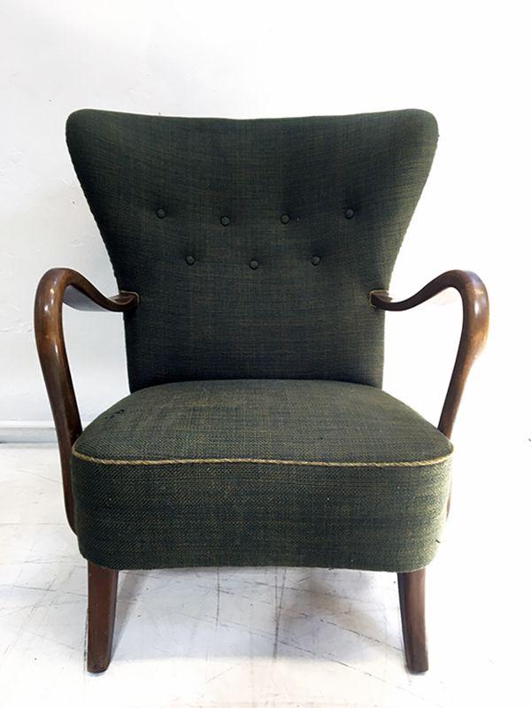 Sessel von Alfred Christensen für Slagelse Møbelfabrik, 1940er
