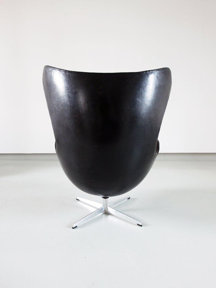 egg chair von arne jacobsen f r fritz hansen 1966 bei pamono kaufen. Black Bedroom Furniture Sets. Home Design Ideas