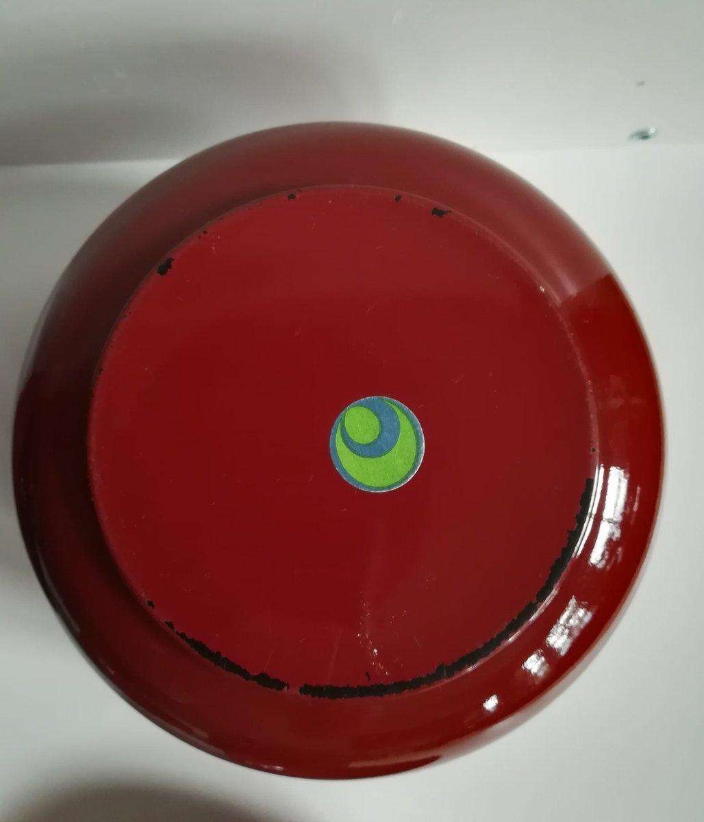 schwarz und rot lackiertes bakelit geschirr set von chabri res et cie 1970er 4er set bei. Black Bedroom Furniture Sets. Home Design Ideas