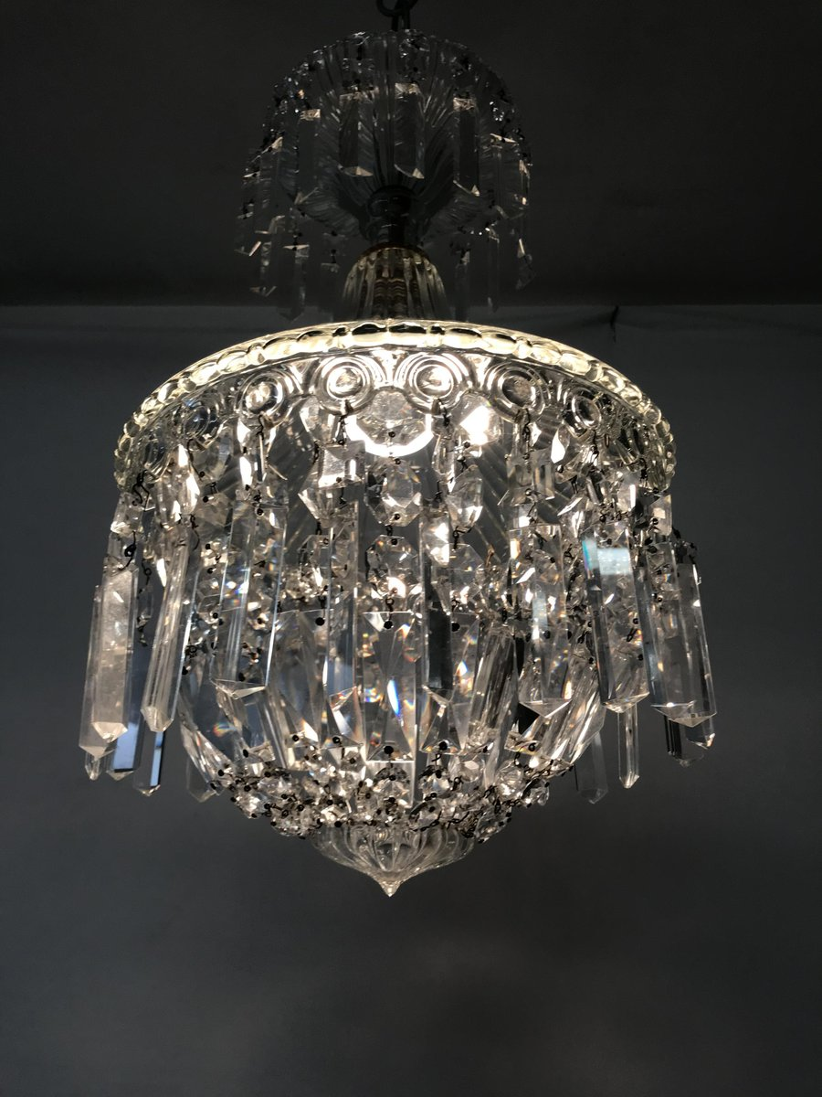 Vintage Italian Murano Crystal Chandelier For Sale At Pamono