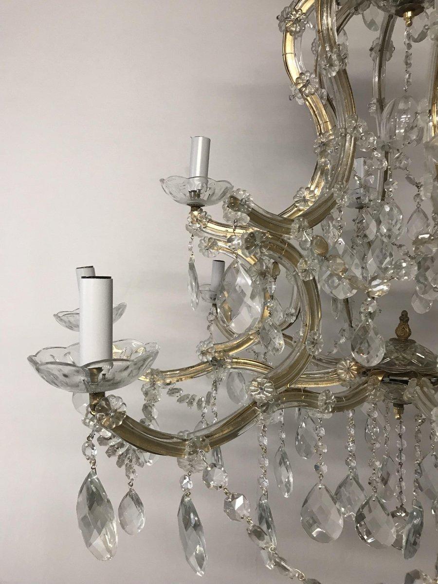 grand lustre vintage en cristal italie en vente sur pamono. Black Bedroom Furniture Sets. Home Design Ideas