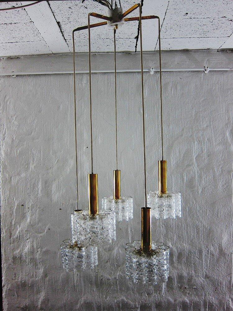 Kaskaden Hängelampe von Doria Leuchten, 1960er