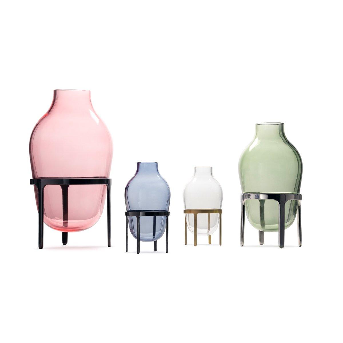 petit vase titus iii en verre bleu par jaime hayon pour paola c en vente sur pamono. Black Bedroom Furniture Sets. Home Design Ideas