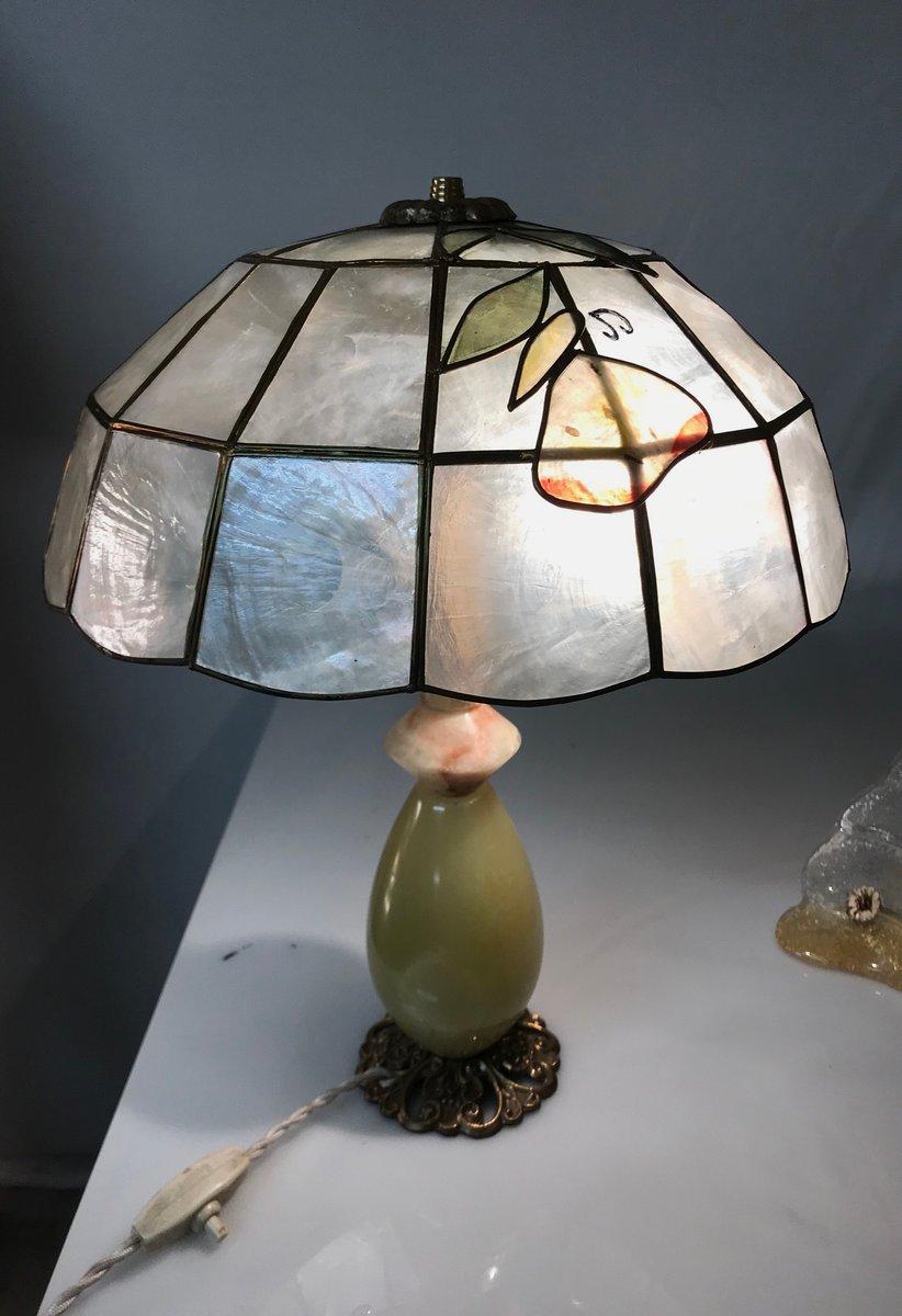 Italienische Vintage Onyx Tischlampen, 2er Set