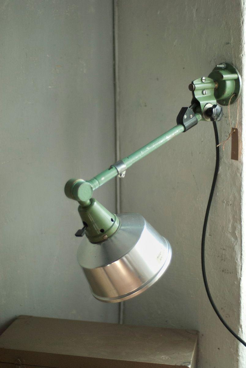 Grüne Vintage Wandlampe von Curt Fischer für Midgard R1