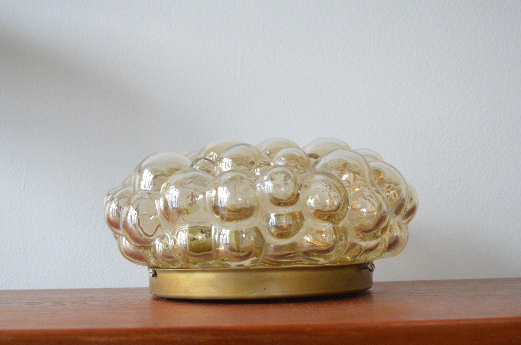 Mid-Century Bubble Glas Deckenlampe von Helena Tynell, 1960er