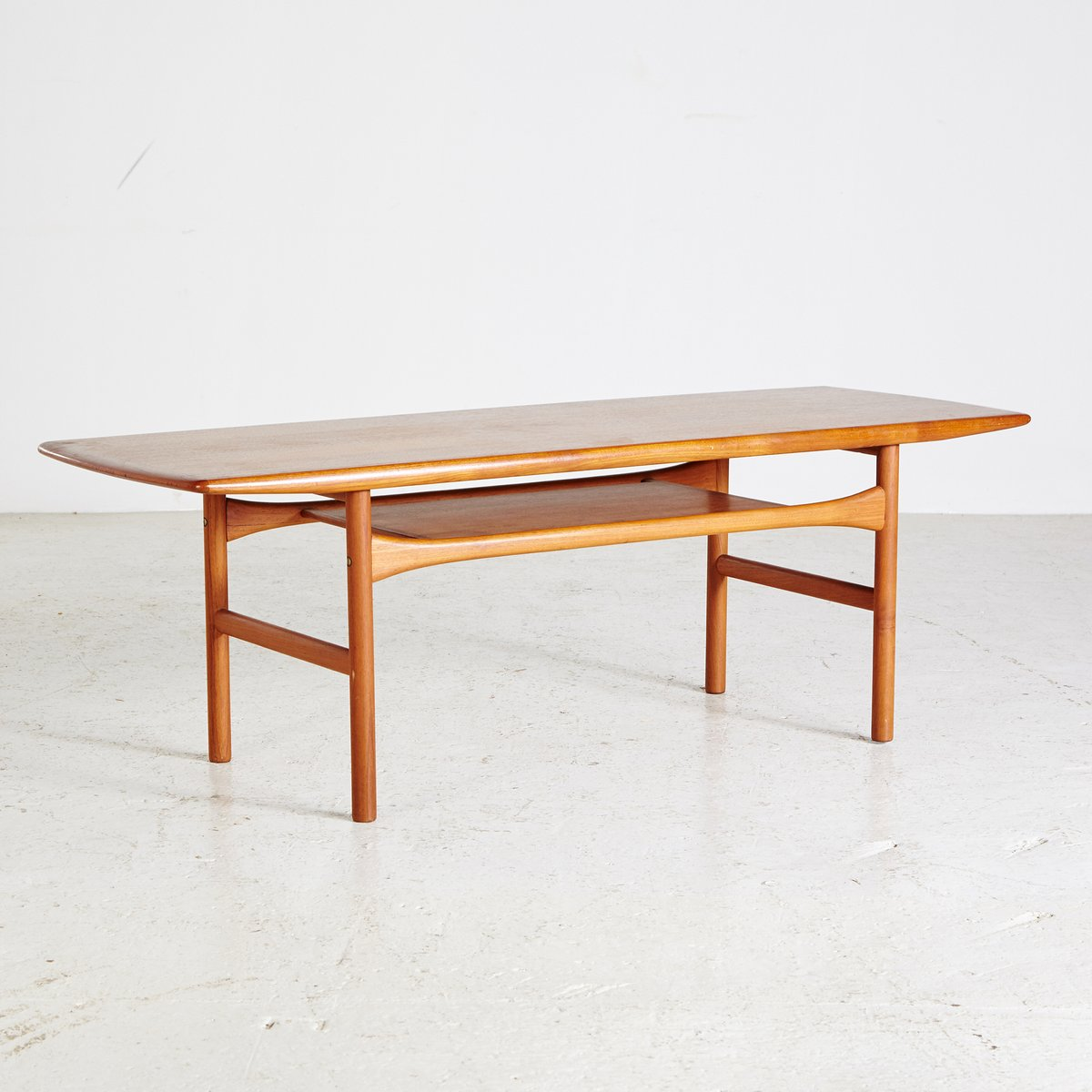 Mid-Century Teak Coffee Table From Arrebø Møbler For Sale
