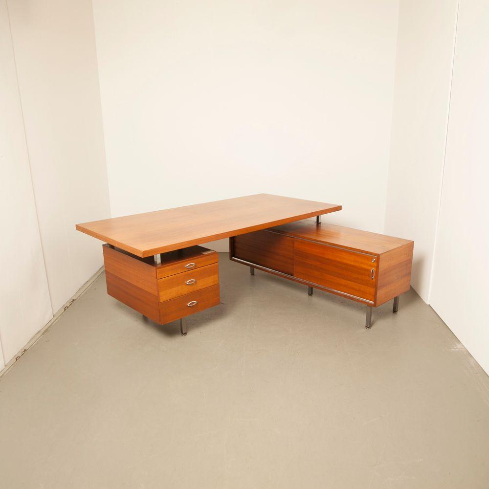 franz sischer l f rmiger eck schreibtisch aus teakholz 1960er bei pamono kaufen. Black Bedroom Furniture Sets. Home Design Ideas