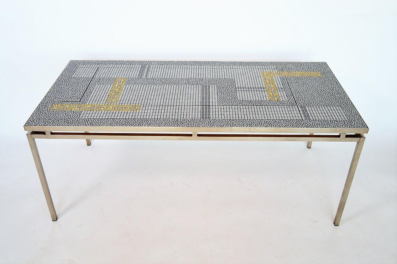 Deutscher Mosaik Couchtisch von Berthold Müller, 1960er