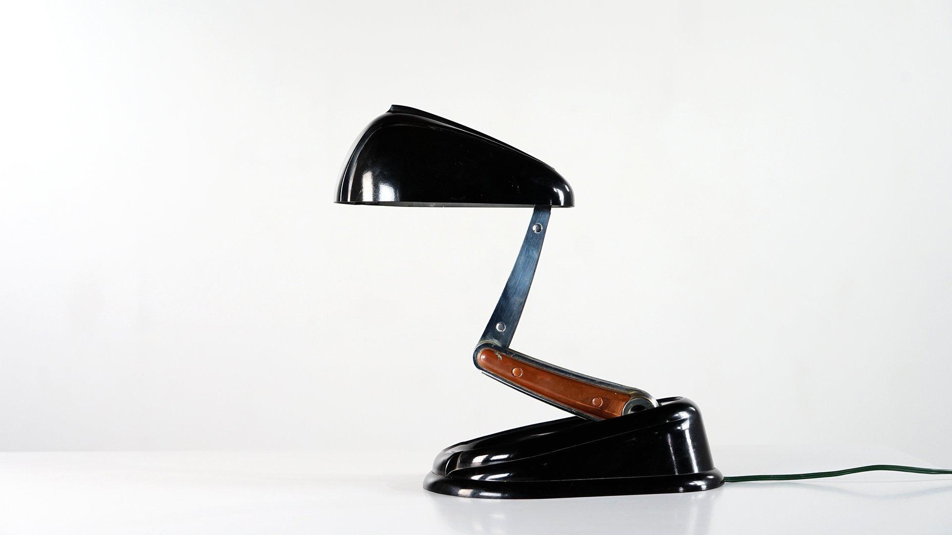 Französische Bolide Schreibtischlampe von Jumo, 1940er
