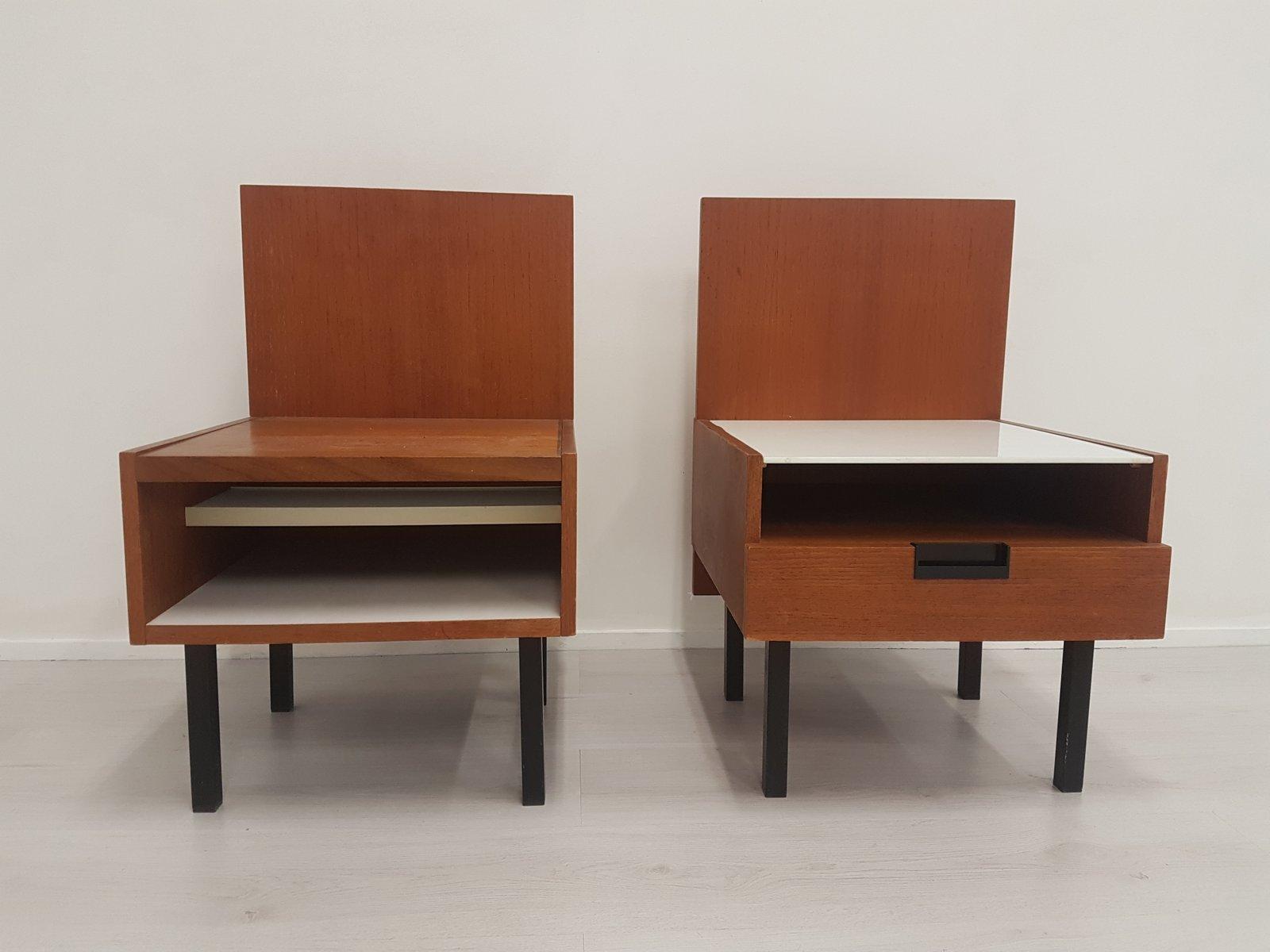 Nachttische von Cees Braakman für Pastoe, 1970er, 2er Set