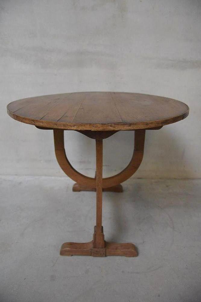 Antiker Weinkost Tisch aus Eiche