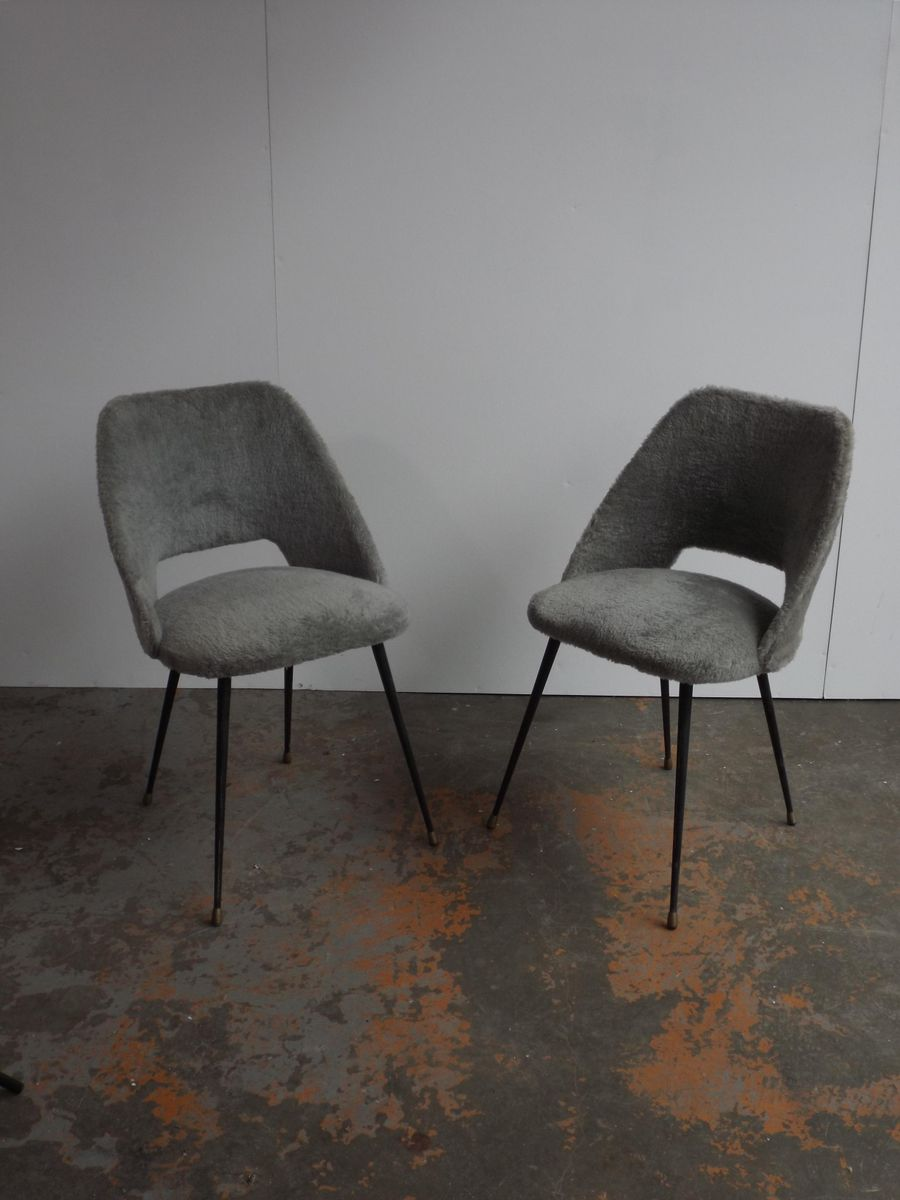 French dining chairs 1950s set of 2