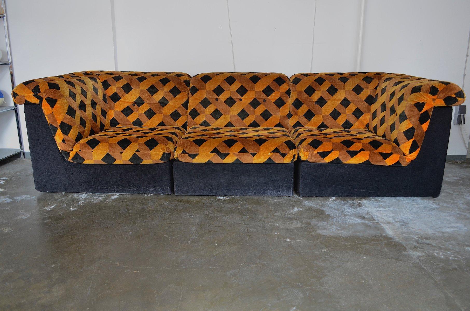 vintage modular sofa  1970s for sale at pamono 3 piece modular sofa Modern Modular Sofa