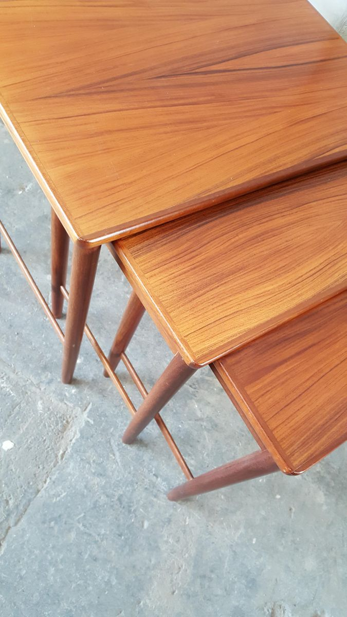 mid century rosewood nesting tables from opal m bel for sale at pamono. Black Bedroom Furniture Sets. Home Design Ideas