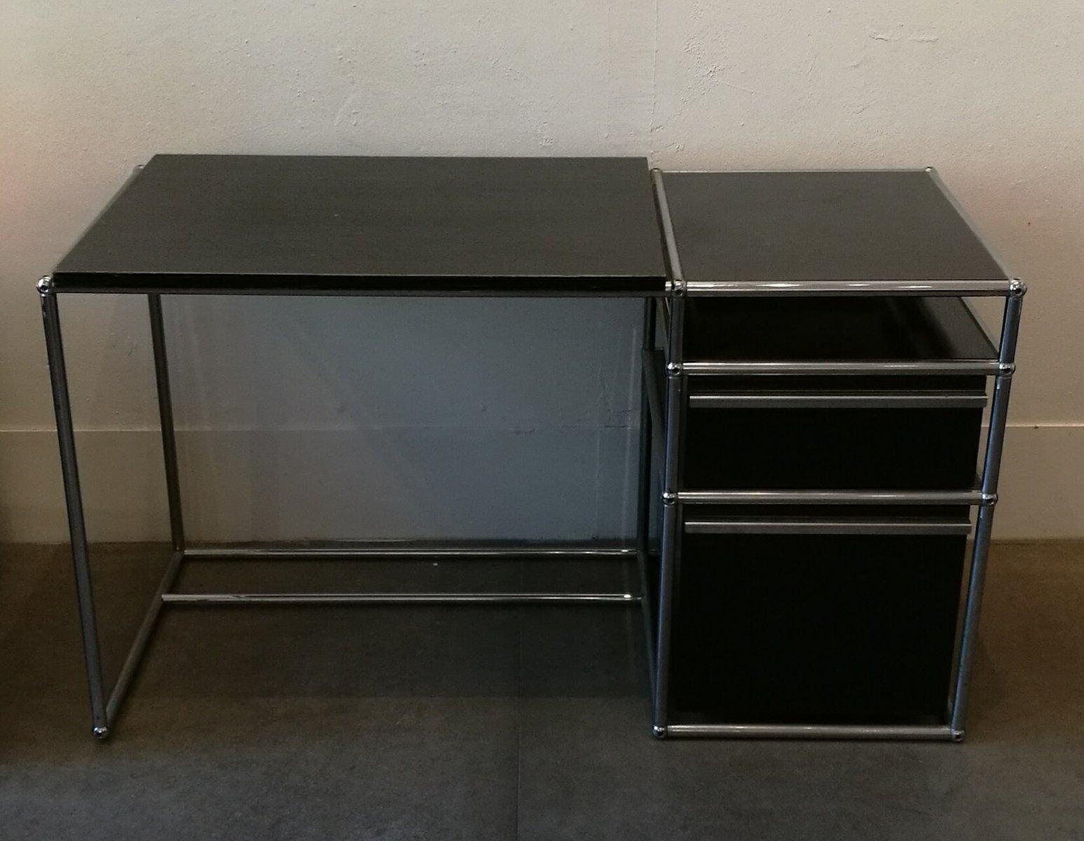 Bureau en métal noir de usm haller 1980s en vente sur pamono
