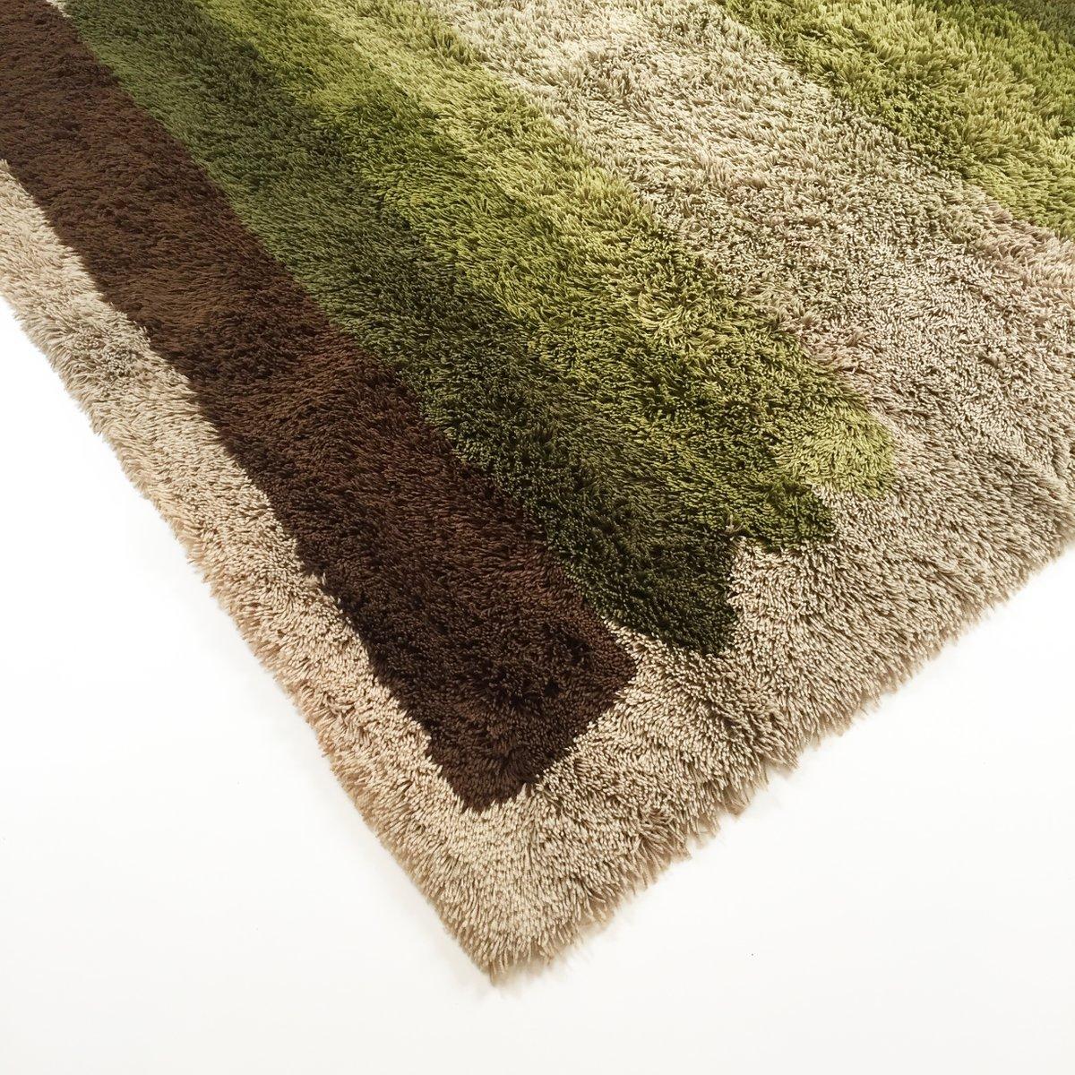 bunter vintage hochflor rya teppich von desso 1970er bei pamono kaufen. Black Bedroom Furniture Sets. Home Design Ideas