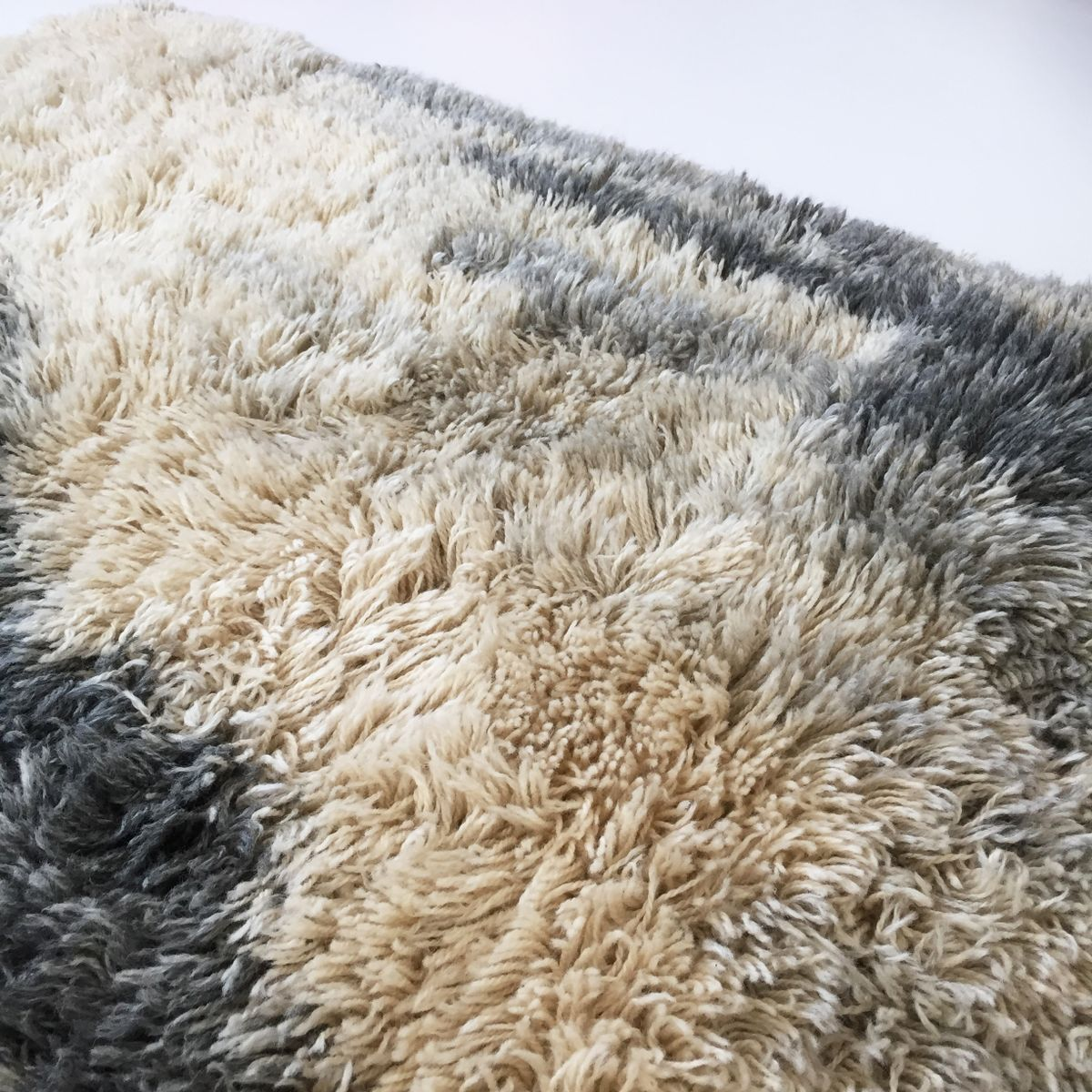 abstrakter skandinavischer vintage rya teppich von ege taepper 1960er bei pamono kaufen. Black Bedroom Furniture Sets. Home Design Ideas