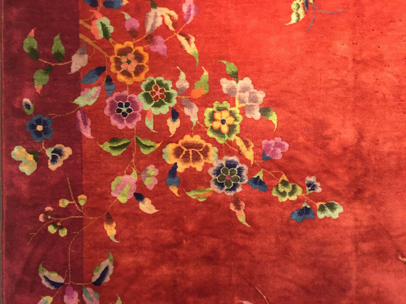 chinesischer vintage art deco teppich bei pamono kaufen. Black Bedroom Furniture Sets. Home Design Ideas