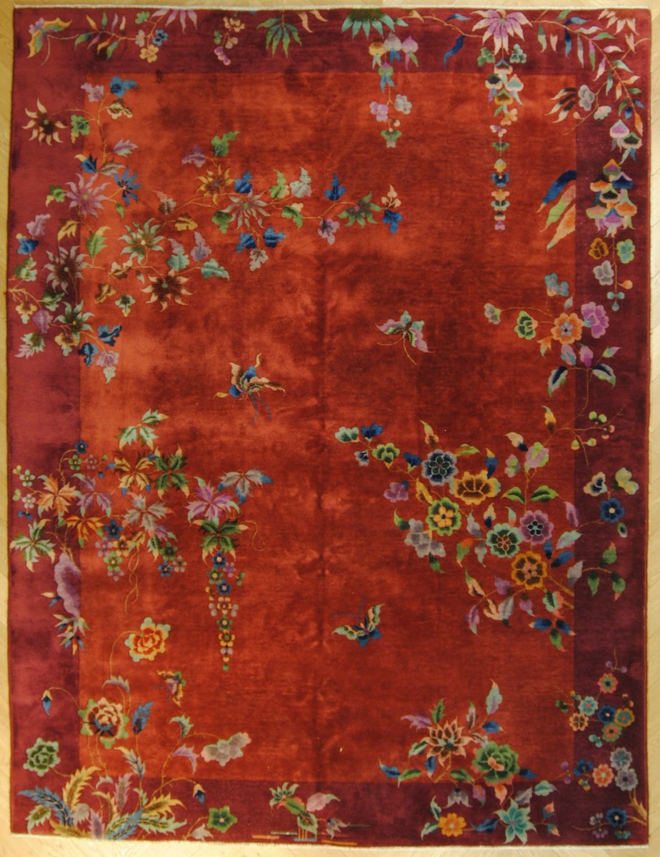 Chinesischer vintage art deco teppich bei pamono kaufen - Art deco teppich ...