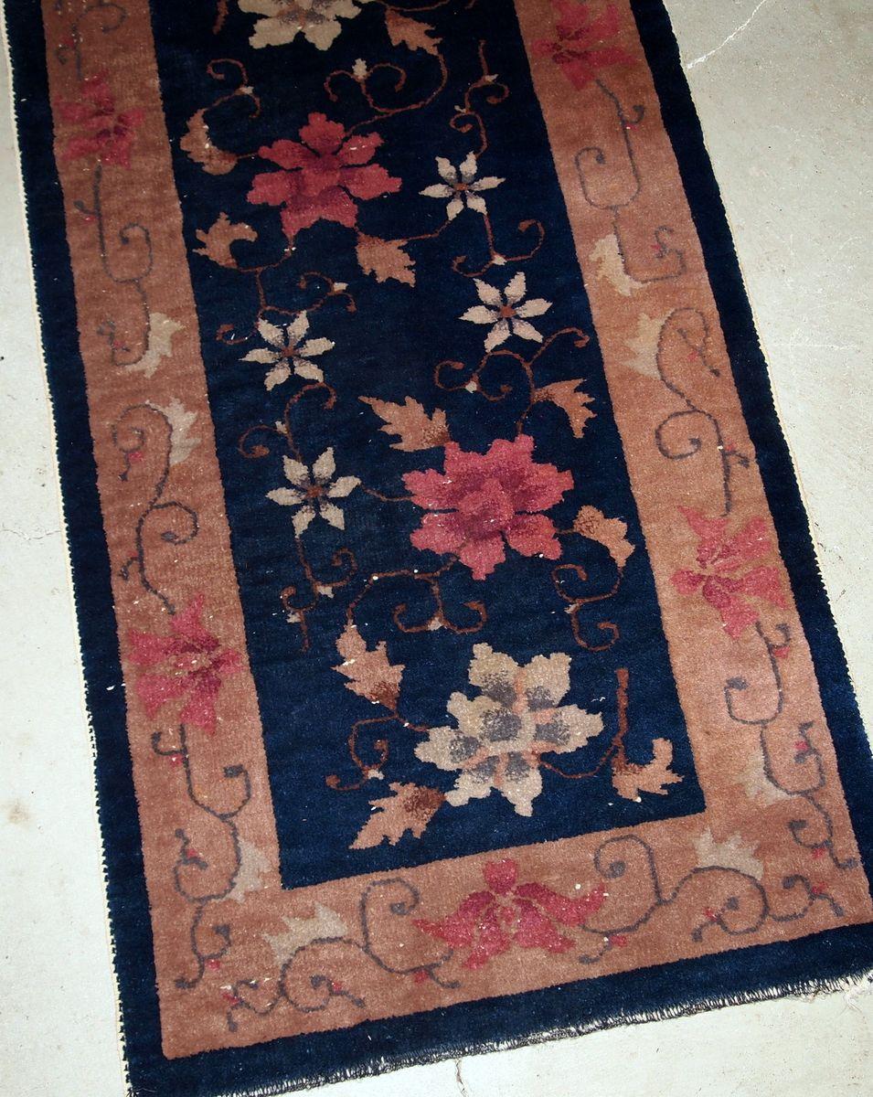 antiker handgearbeiteter chinesischer art deco teppich 1920er bei pamono kaufen. Black Bedroom Furniture Sets. Home Design Ideas