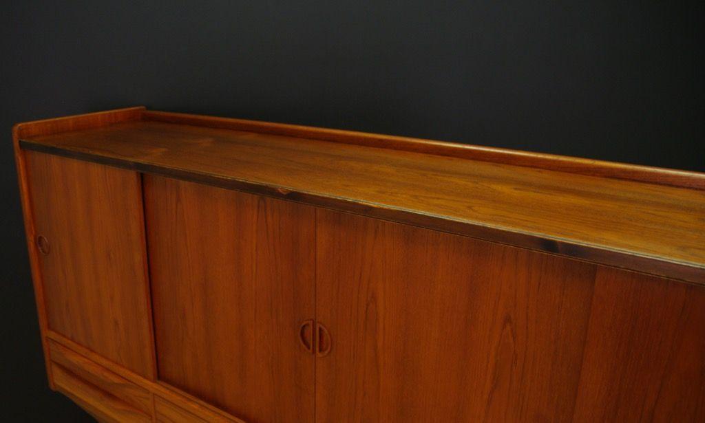 d nisches vintage highboard mit teak furnier bei pamono kaufen. Black Bedroom Furniture Sets. Home Design Ideas