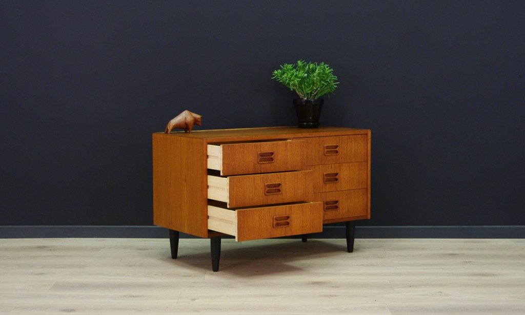 d nische vintage kommode mit teak furnier von th jull bei pamono kaufen. Black Bedroom Furniture Sets. Home Design Ideas