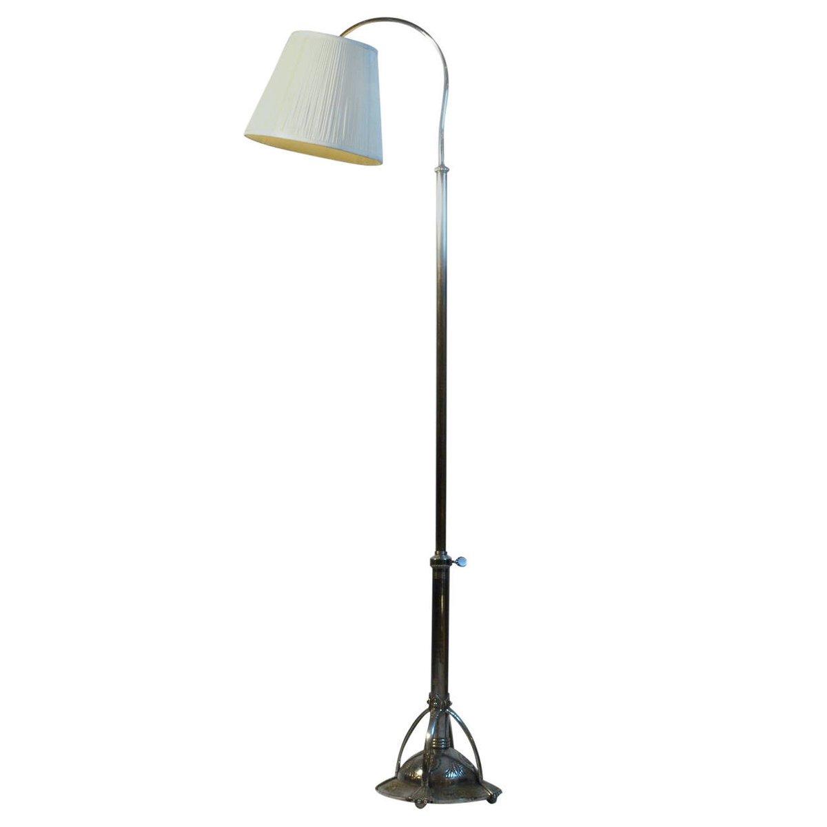 Vernickelte Art Deco Stehlampe