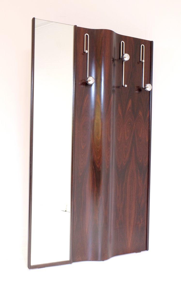 italienische palisander garderobe mit spiegel 1970er bei pamono kaufen. Black Bedroom Furniture Sets. Home Design Ideas