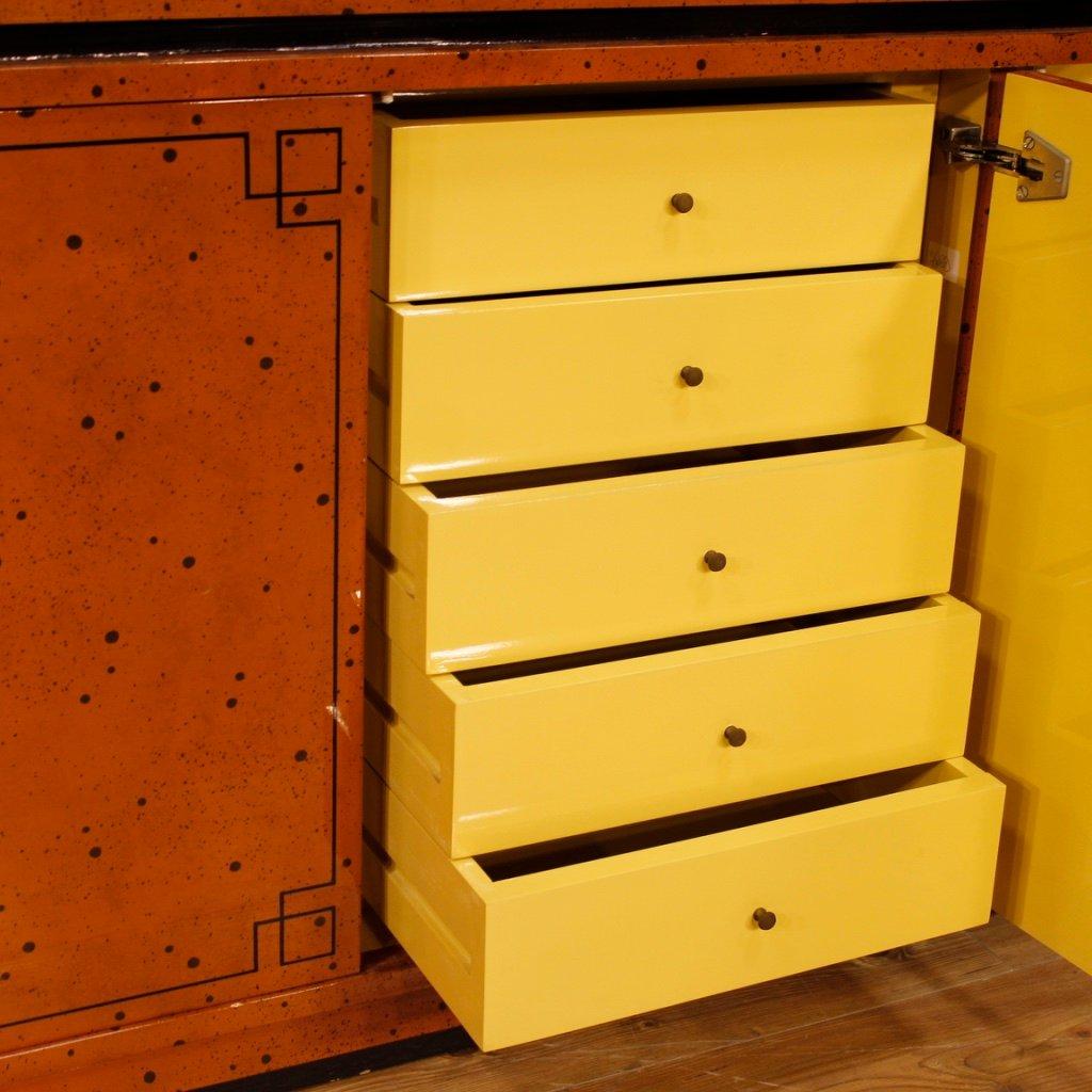 enfilade en bois peint laqu 1970s en vente sur pamono. Black Bedroom Furniture Sets. Home Design Ideas