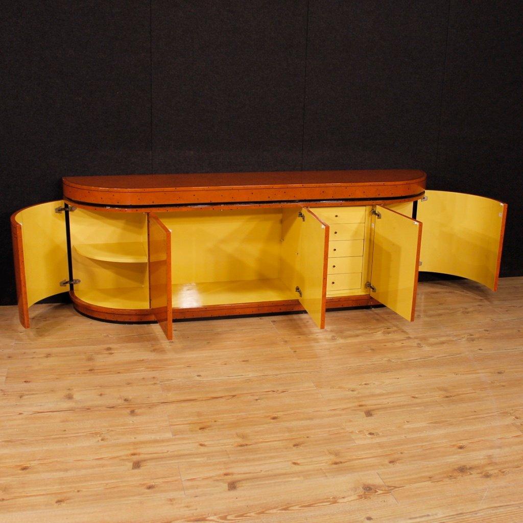 sideboard aus lackiertem und bemaltem holz 1970er bei pamono kaufen. Black Bedroom Furniture Sets. Home Design Ideas