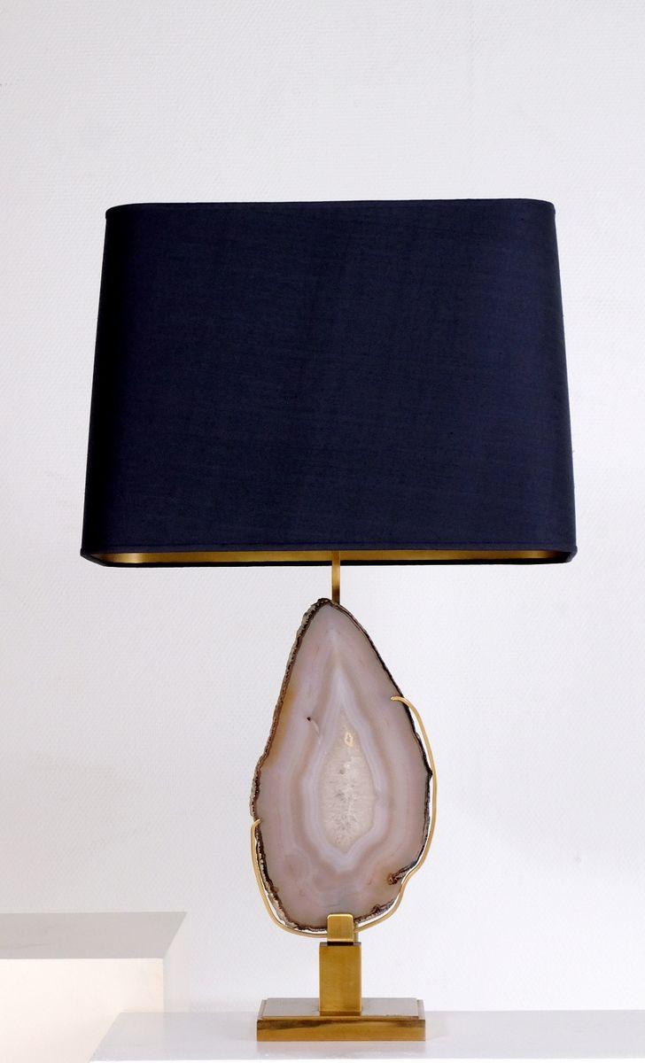 Belgische Tischlampe aus Achat von Christian Krekels , 1970er