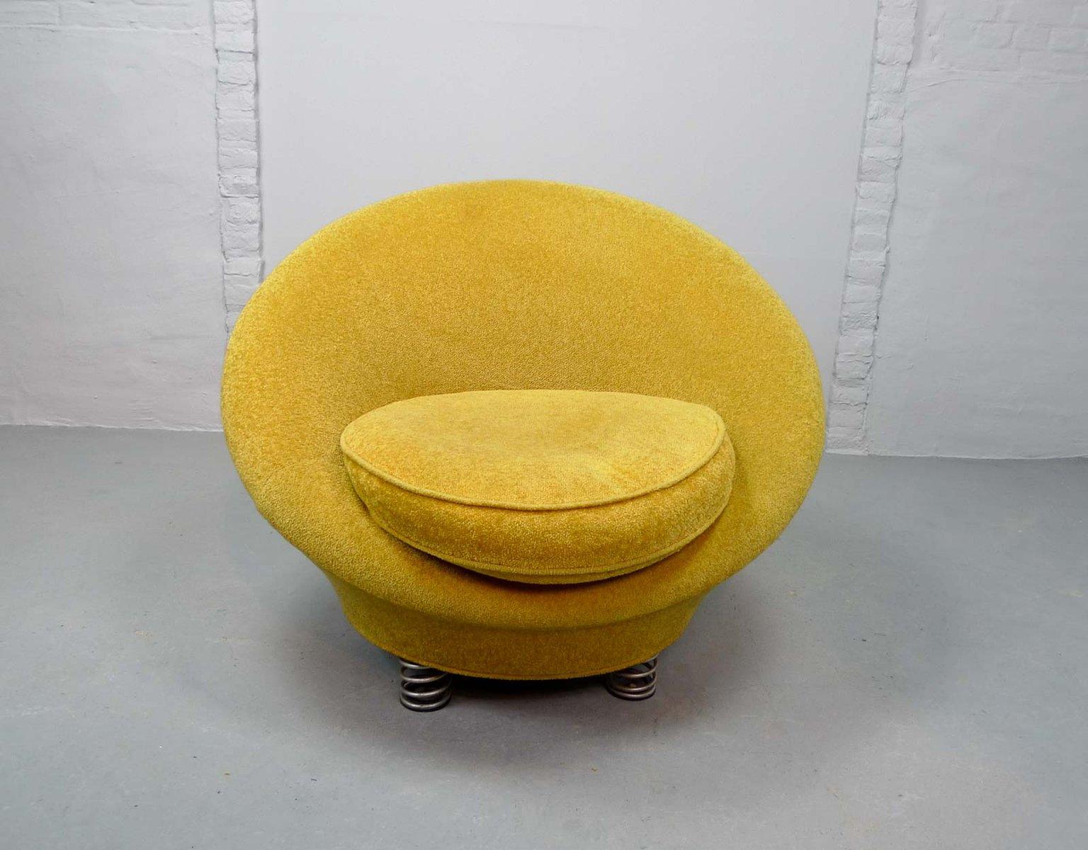 Mid Century Sessel In Gelb Von Keith Haring Fur Bretz 1980er Bei