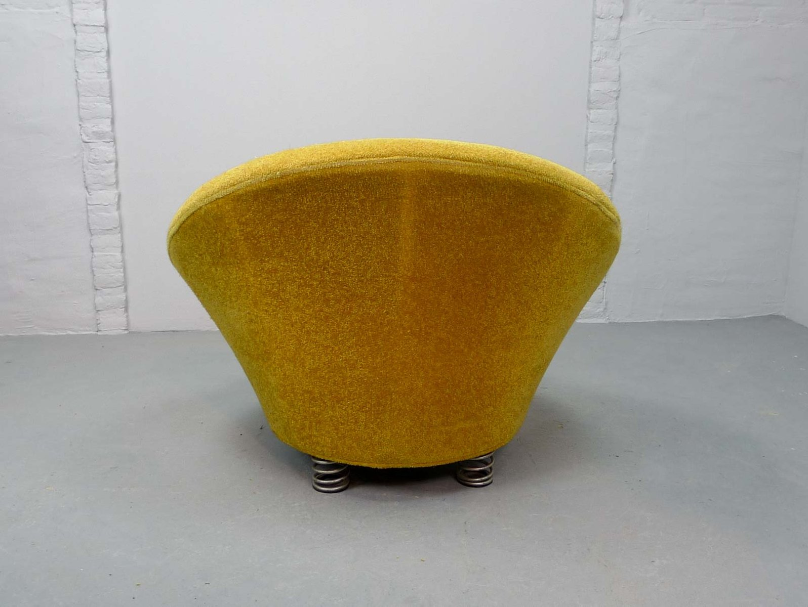 Mid Century Yellow Lounge Chair By Keith Haring For Bretz, 1980s
