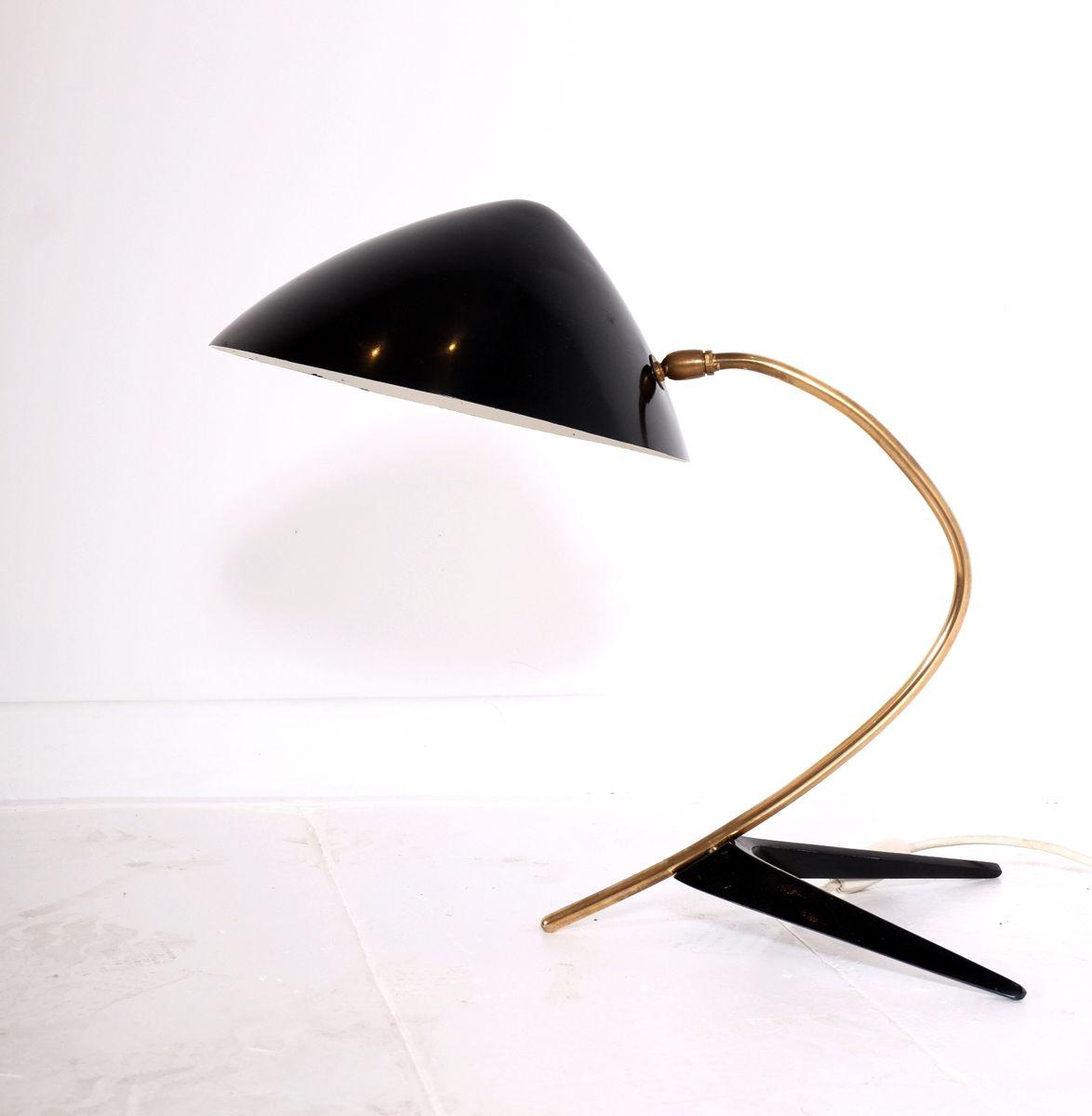 Italienische Stativ Schreibtischlampe aus Messing und lackiertem Metal...