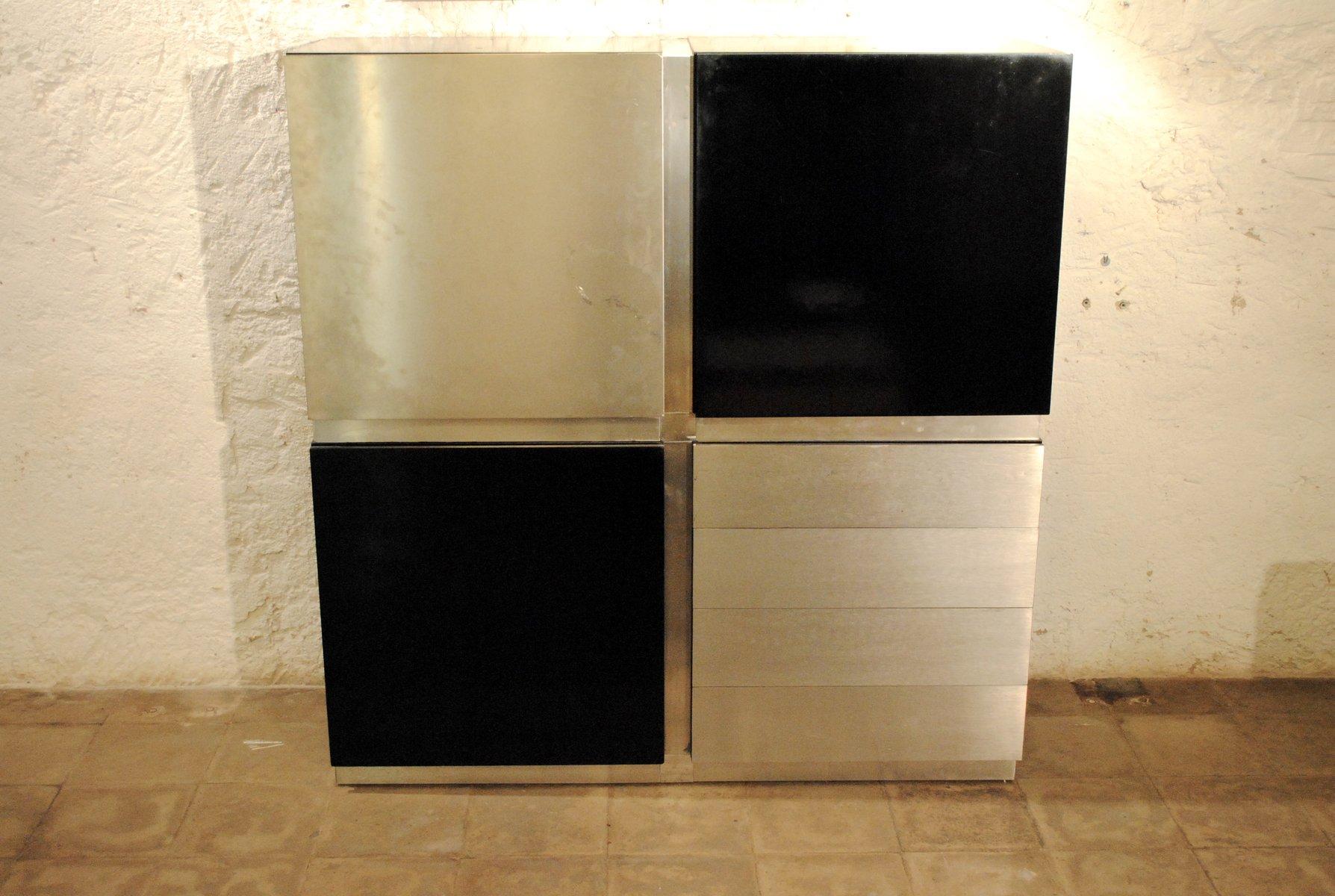 Parioli Containerschrank von Giotto Stoppino für Acerbis | Büro > Büroschränke > Container | Schwarz | Holz | Acerbis