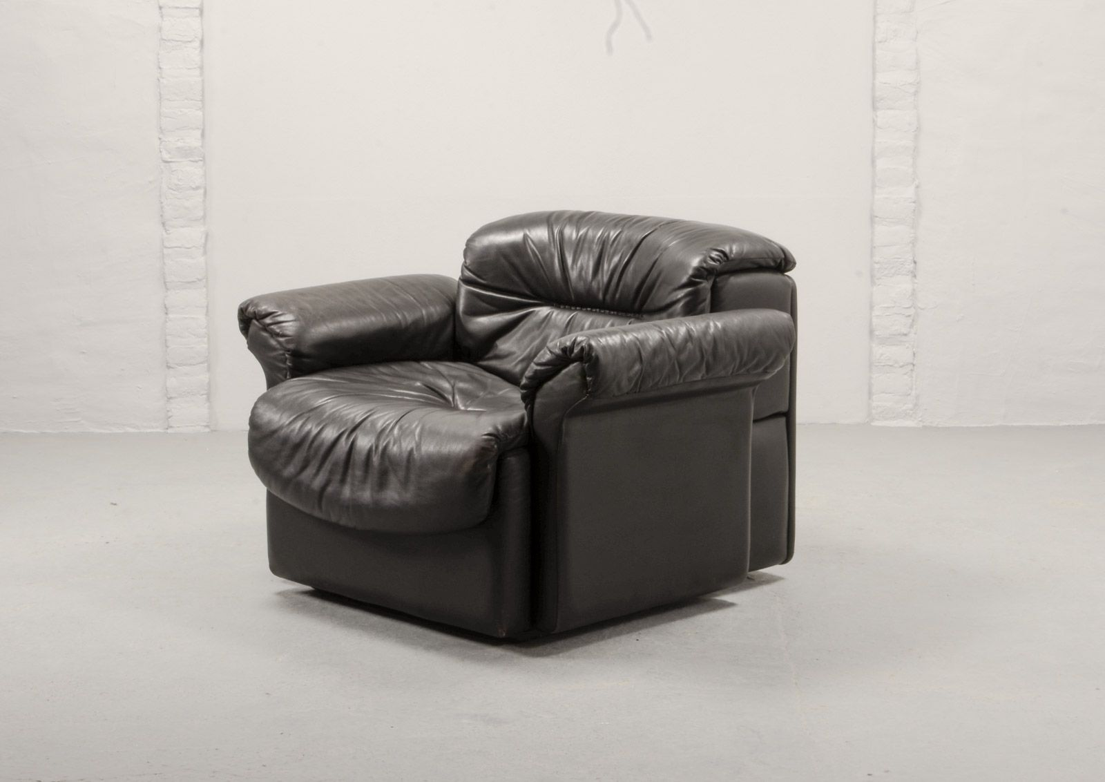 Sensational Black Leather Ds17 1 Lounge Chair From De Sede 1970S Pdpeps Interior Chair Design Pdpepsorg