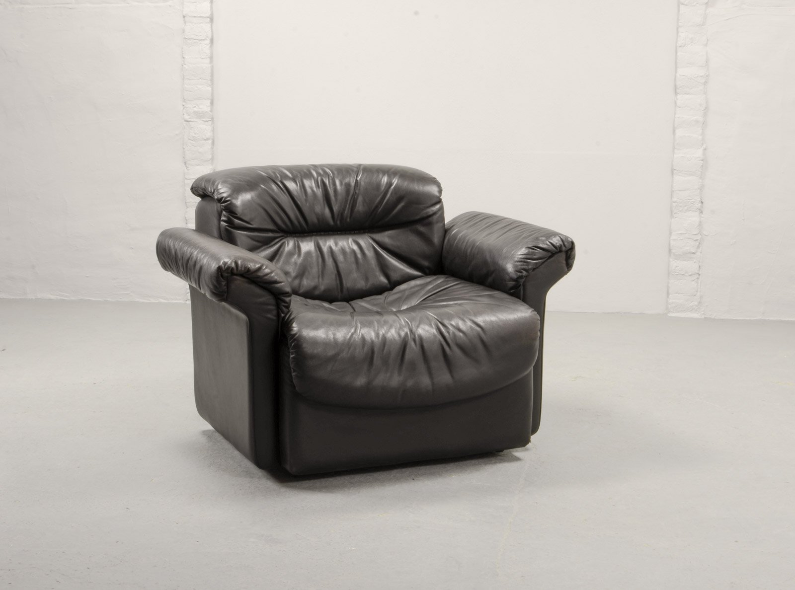 Peachy Black Leather Ds17 1 Lounge Chair From De Sede 1970S Pdpeps Interior Chair Design Pdpepsorg