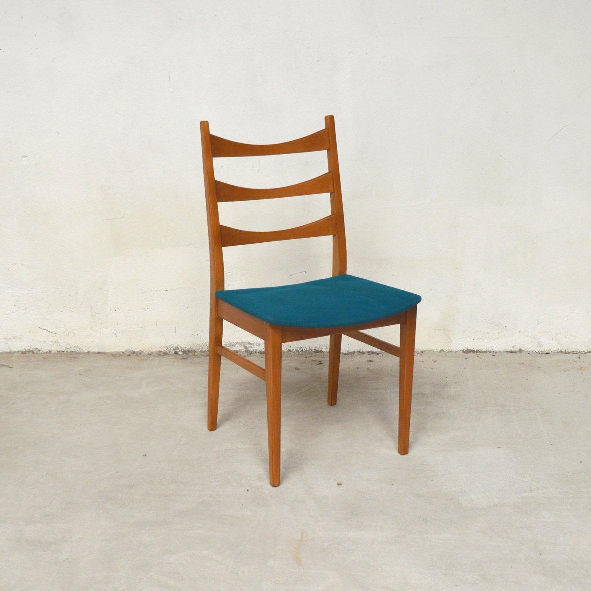 skandinavische st hle mit blauen sitzen 1960er 4er set bei pamono kaufen. Black Bedroom Furniture Sets. Home Design Ideas