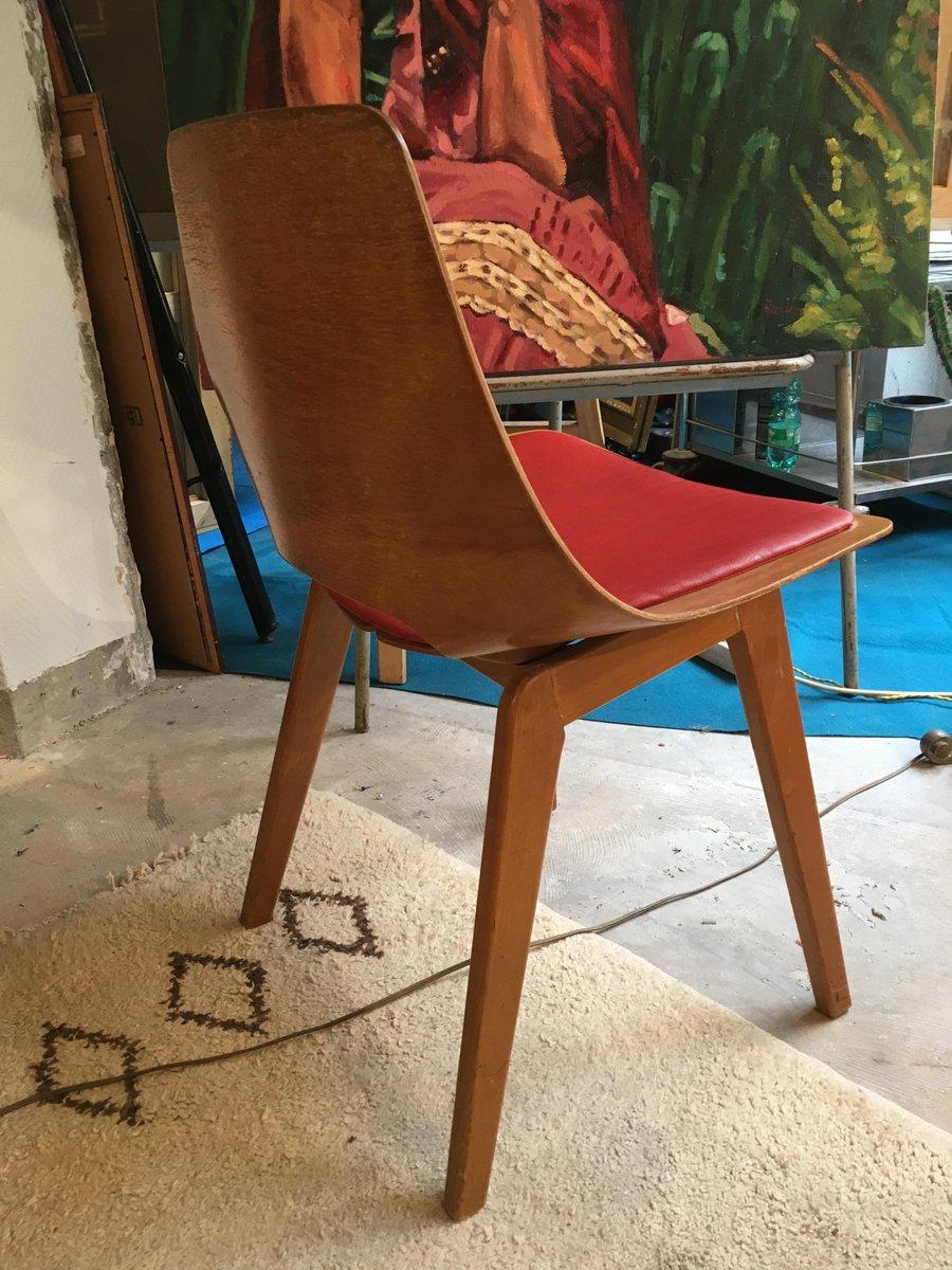 chaise tonneau mid century par pierre guariche pour steiner 1950s en vente sur pamono. Black Bedroom Furniture Sets. Home Design Ideas