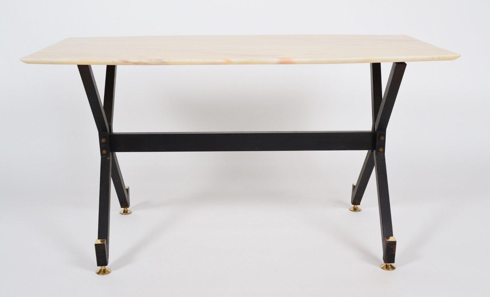 table basse avec plateau en marbre 1960s en vente sur pamono. Black Bedroom Furniture Sets. Home Design Ideas