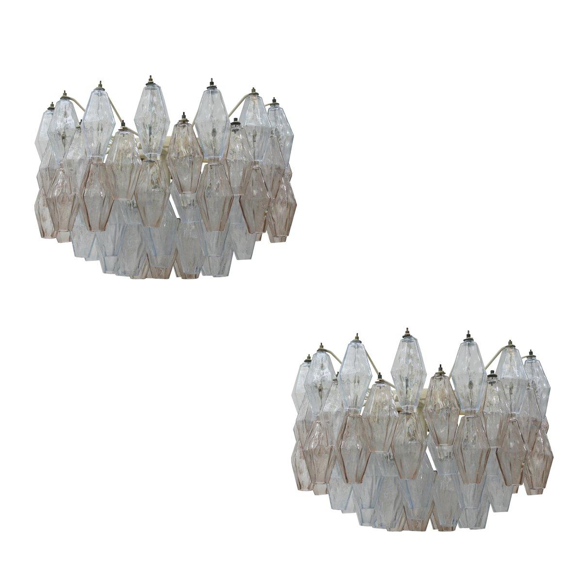 Poliedri Deckenlampen von Carlo Scarpa, 1950er, 2er Set